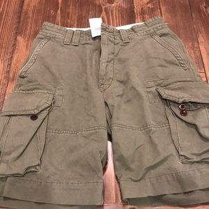 Olive green cargo shorts